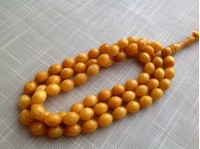 YELLOW ANTIQUE COLOR ISLAMIC ROSARY 66 BEADS