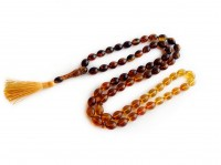 MULTICOLOR AMBER ISLAMIC ROSARY 66 BEADS