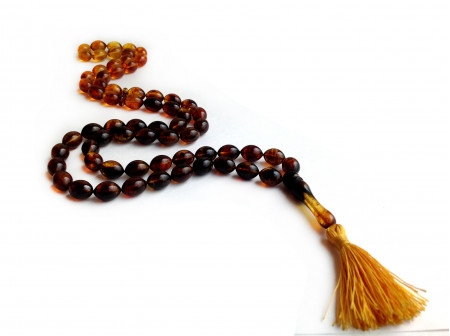 LONG ISLAMIC ROSARY WITH 66 OVAL BEADS