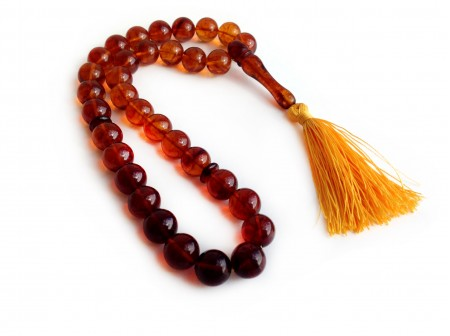 CHERRY AMBER ISLAMIC BEADS 12mm