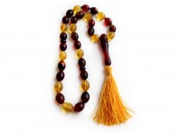 MULTICOLORED AMBER MUSLIM ROSARY