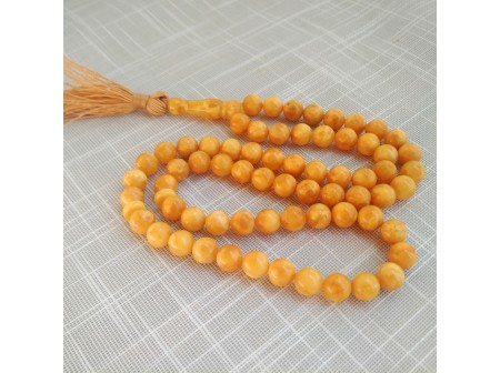 ORANGE COLOR ISLAMIC ROSARY 66 BEADS