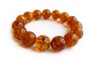 HONEY AMBER BEADED BRACELET