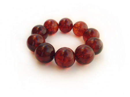 AMBER CHERRY BEAD BRACELET 21mm