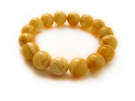 AMBER BUTTERSCOTCH BEAD BRACELET