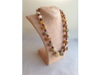 MASSIVE BEADED AMBER NECKLACE