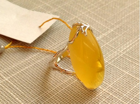 DAINTY ADJUSTABLE AMBER RING