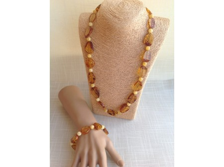 AMBER INCLUSION JEWELLERY SET