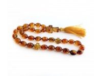 TRANSPARENT AMBER ORTHODOX ROSARY