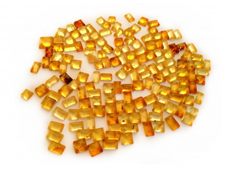 AMBER CABOCHONS: SQUARES & RECTANGLES