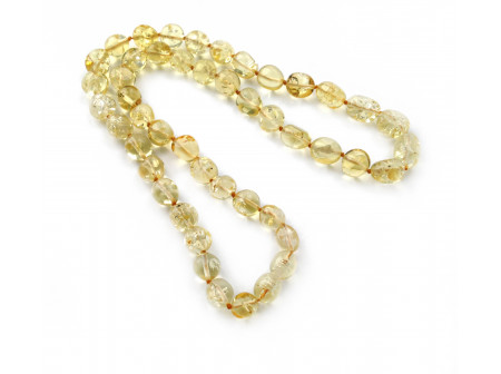 "Baby Teething Necklace: Color ""Citrine"""