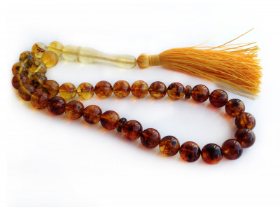 Multicolor Amber Islamic Rosary Beads 9mm