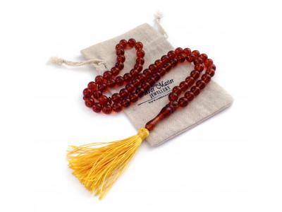 Red Amber Islamic Prayer Beads 10mm