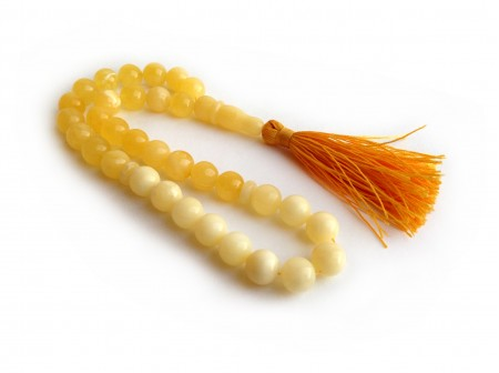 Amber Islamic Noble Rosary: 33 Beads 9.5mm