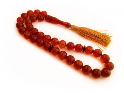 Cherry Amber Islamic Prayer Beads 11mm