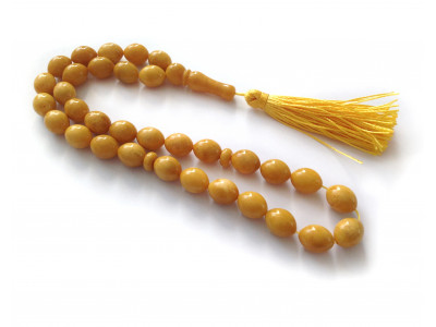 Yellow Antique Color Islamic Rosary 33 Beads