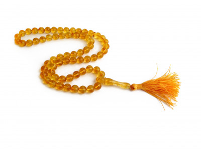 Lemon  Amber Islamic Rosary 66 Beads 10mm