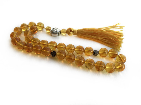 Gold Amber Worry Beads