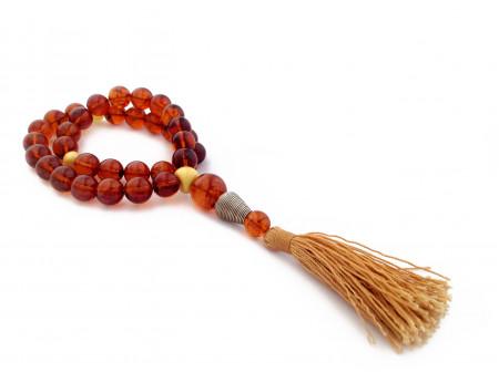 Amber Islamic Rosary 33 Round Beads