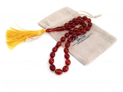 Cherry Amber 33 Prayer Beads