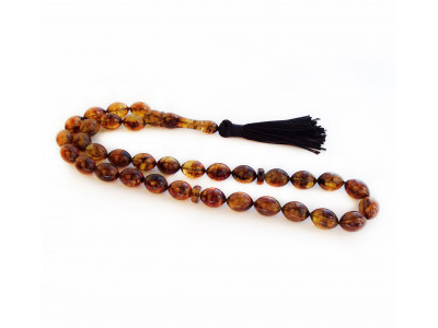 Amber Islamic Olive Shape Rosary Beads