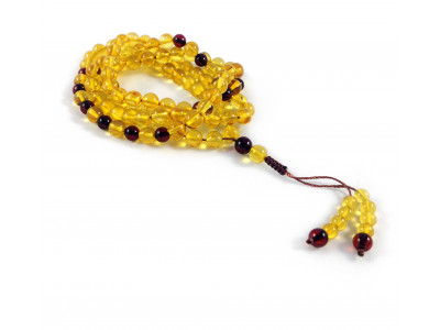 Gold Amber Rosary With 99 Beads 8mm (adjustable knot)