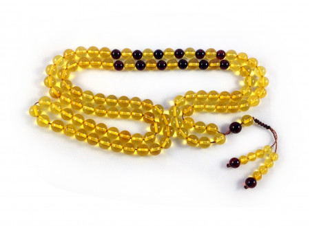 ORIGINAL AMBER ROSARY WITH 99 BEADS 8mm (adjustable knot)