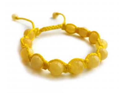 Shamballa Bracelet With Yellow Amber