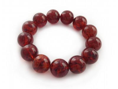 Cherry Amber Bead Bracelet 16mm