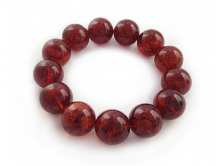 AMBER CHERRY BEAD BRACELET 16mm