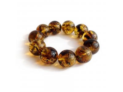 Big Amber Bead Bracelet: 20mm