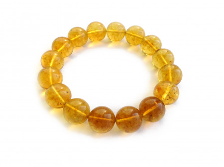 LEMON AMBER STRECHY BRACELET 12mm