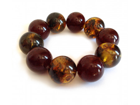 Big  Beads Amber Bracelet:  22mm & 23mm