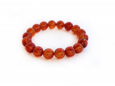 Cherry Amber Bead Bracelet 11mm