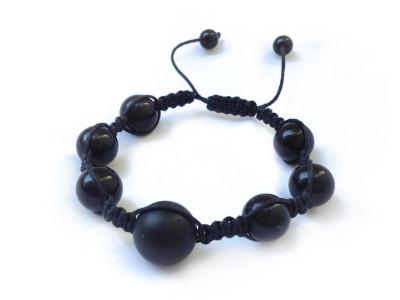 Shamballa Bracelet With Black Amber