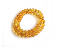 Yellow Amber Necklace with Beads 10mm
