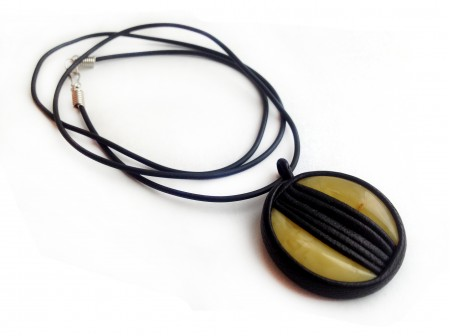 BOHO MEDALLION WITH AMBER INSERTS