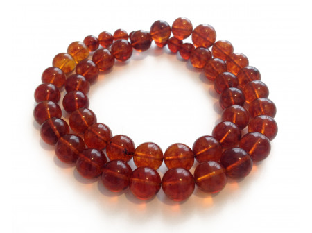 Cherry Amber Necklace: Beads 10mm - 15mm