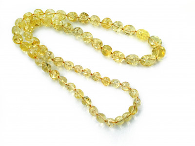 """Amber Necklace: Color """"Citrine"""""""