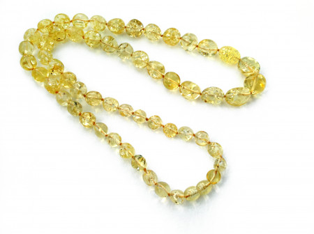 "Amber Necklace: Color ""Citrine"""