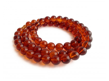 Cherry Amber Long Necklace: Beads 12mm