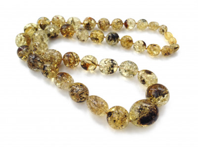 Amber Necklace: Green Color