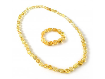 "Amber Jewelry Set: ""Citrine"" Color"