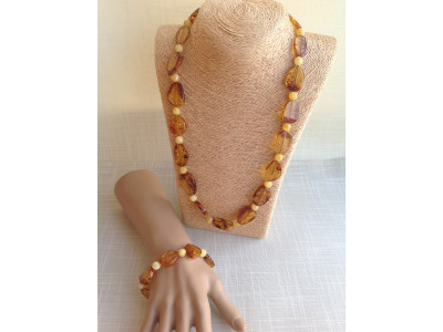 Amber Inclusion Jewelry Set