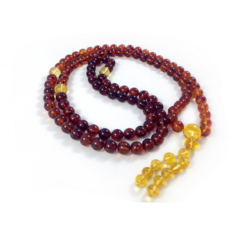 Tibetan Buddhist Mala With 108 Cherry Amber Beads