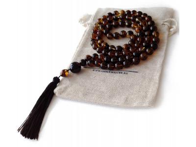 Tibetan Zen Mala With 81 Amber Beads