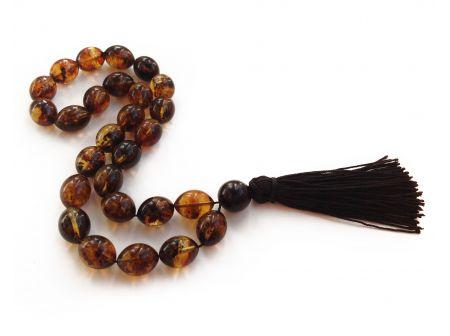 Tibetan Zen Mala With 27 Amber Beads
