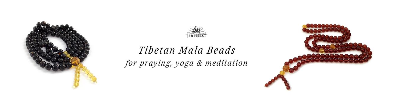 Amber Tibetan Mala Beads