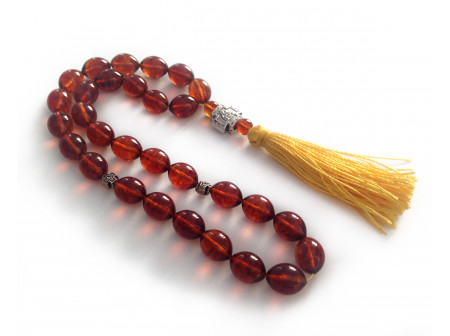 Cherry Amber Christian Rosary