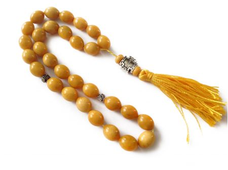 30 Amber Beads Rosary: Antique Color